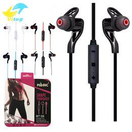 Wholesale Headphone Function - BT-3 Sport Wireless Bluetooth 4.1 Stereo Earphone Fashion Headset Headphone With Mic Self timer function