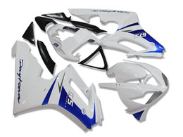 Wholesale Triumph Race Fairing - New Injection ABS motorcycle Fairings kit For Racing bike TRIUMPH Daytona 675 02 03 04 05 06 07 08 High Quality blue white glossy