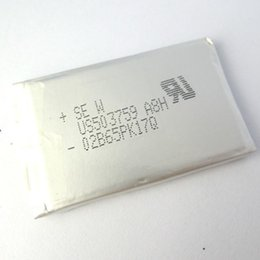 Wholesale Tab Batteries - 4pcs Original for SONY US503759 A8H battery 3.7V 1350mah Rechargeable lithium polymer batteries with tabs