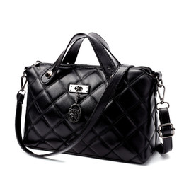 Wholesale Ladies Laptop Tote Bags - New Diamond lattice fashion women bag, single shoulder bag fashion bag lady shoulder slope laptop bag