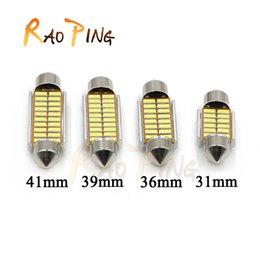 Wholesale 36mm Festoon Bulbs - Reading Light Canbus 31mm 36mm 39mm 41mm 6418 C5W C10W 4014 LED Car Festoon Lights Auto Interior Dome lamp Reading Bulb