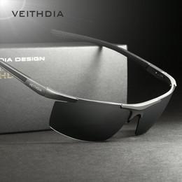 Wholesale Magnesium Coating - VEITHDIA Aluminum Magnesium Men's Sunglasses Polarized Coating Mirror Sun Glasses oculos Male Eyewear Accessories For Men 6588