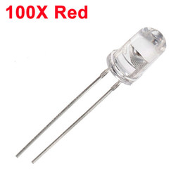 Wholesale White Led Light Emitting Diode - Wholesale- 100Pcs Red LED 5mm Diode Round Ultra Bright LED Light Emitting Diode Lamp Water Clear Through Hole Diode Bulb LED Light Bead