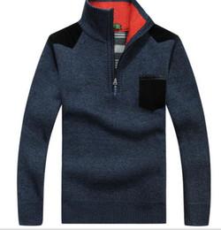 Wholesale Men Long Paragraph Suit - Men 's cashmere sweater autumn and winter paragraph loose warm sweater jacket men' s high - necked suit