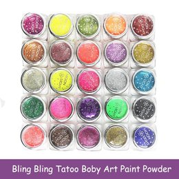 Wholesale Shimmer Body Art Wholesale - Wholesale-2Pcs Lot Shimmer Shinny Body Glitters Temporary Tattoo Powder DIY Body Crafts Art Decoration Color Y1-5
