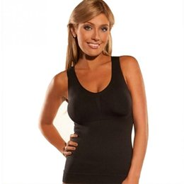 Wholesale genie pads - Wholesale- Cami Shaper Genie With Removable Pads Plus Size 3 Color Slimming Camisole Underwear