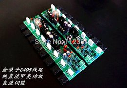 Wholesale Diy Amplifier Channel - Freeshipping diy kit mirror design finish accuphase e405 pure DC amplifier board protect the two-channels speaker amplifier