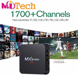 Wholesale Package Receivers - with 1700+ channels IPTV Streaming Box MXQ pro Android6.0 Wifi 1G 8G Include Italy Portugal French Receiver Europe Arabic IPTV EPG Package