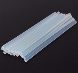 Wholesale Gun Stick For Pc - 25 PCS   lot 7mmx250mm Clear Glue Adhesive Sealant Sticks For Hot Melt Gun Car Audio Craft transparent For Alloy Accessories Tool