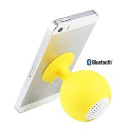 Wholesale Sucker Silicone - bluetooth Speaker Sucker Holder Speaker Mini Portable Stereo Sound Silicone Speaker with Mobile Phone Bracket