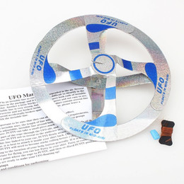 Wholesale Mystery Magic Ufo - Wholesale-Children Magic Toy Mystery Floating UFO Flying Saucer 10PCS lot whosale price Mystery UFO Floating Flying Saucer Magic Toy