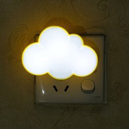 Wholesale Small Plugging Lamp - Wholesale- White clouds red LED light lamp socket with switch plug creative small bulb feeding bedroom luminous energy
