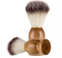 Wholesale Best Shave - Barber Hair Shaving Razor Brushes Natural Wood Handle Nylon Bristle Beard Brush For Men Best Gift Barber Tool