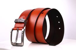 Wholesale Casual Jeans Tops Women - 2017 hot mens designer belts top quality big size mens belts luxury jeans Casual man leather pin buckle belts for men waistband