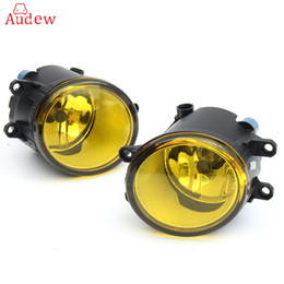 Wholesale Led Running Lights Camry - 2Pcs 55W LED Round Front Right Left Fog Light Lamp DRL Daytime Driving Running Lights For Toyota Camry Carola Vios RAV4