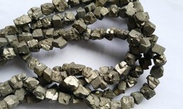 Beads Reasonable Wholesale Genuine Raw Pyrite Nuggets Bead Freeform Iron Gold Box Square Cube Loose Beads 8-20mm Full Strand