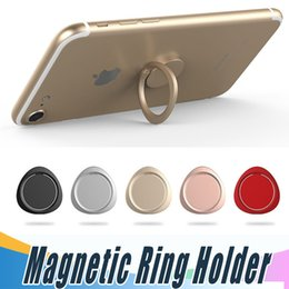 Wholesale Original Mobiles - Luxury Finger Ring Magnetic Holder Triangular Metal Original 360 Degree Mobile Phone Universal Stand Holder Fit For Magnetic Smartphone