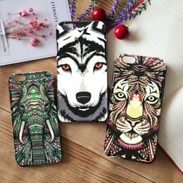 Wholesale Iphone Luminous Back - Relief Luminous Animal Series Hard PC Back Cover For iPhone 7 iphone 6 cases with Free Shipping