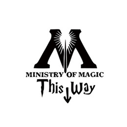 Wholesale modern wall art sale - Hot Sale Art Design Ministry Of Magic Bathroom Door Sticker Home Vinyl Decor Toilet Decal Diy Funny Room Wall Decals