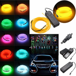 Wholesale 1m Flexible Neon Rope - 1m 3V 5V 12V Flexible Neon Light Glow EL Wire SET Rope tape Cable Strip LED Neon Lights Shoes Clothing Car waterproof led strip New
