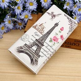 Wholesale Paris Id - Wholesale- Paris Tower Pattern Women Wallets ID Cards Holder Lady Purses Handbags Coin Purse Long Clutch Moneybags Girls Wallet Burse Bags