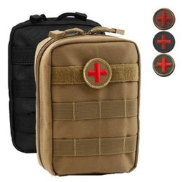 Wholesale Outdoor Medical Kits - 4 Colors Empty Bag for Emergency Bag Tactical Medical First Aid Kit Waist Pack Outdoor Camping Travel Tactical Molle Pouch CCA7342 100pcs