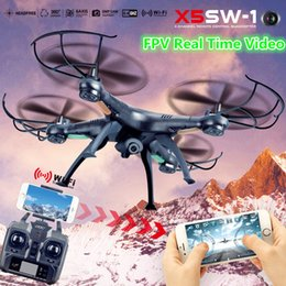 Wholesale System Fpv - Drone Camera Wifi FPV Quadcopter X5SW X5SW-1 Drones with Camera hd Professional Remote Control Helicopter Dron RC Helikopter