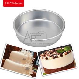 "Wholesale Aluminum Cake Tins - Wholesale- Inner Dia 10cm 3.9"" Sandwich Muffin Cake Baking Tin Pan Mould Round Aluminum Baking Dishes Cake Pan Kitchen Bakeware AM-153"