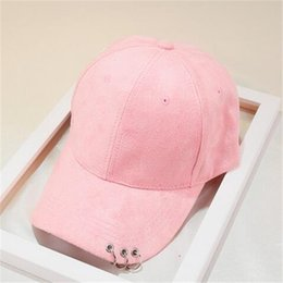 Wholesale Top Hat Rings - Hiphop Hats Fitted Baseball Cap for Men Women Solid Ring Sun Visor Curved Suede Snapback Ball Top Caps Casquette Gorras Outdoor Couple Caps