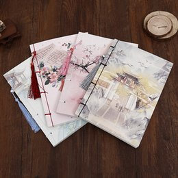 Wholesale Notebook Planner - Wholesale- Handcrafted Chinese style tsmip notepad vintage notebook diary planner school agenda planner organizer classical notebook