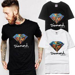 Wholesale Diamond Supply Crew Necks - Diamond Supply Co Printed Man T Shirt New Summer Mens Bboy T-shirt Harajuku Casual Hip Hop Cotton Tees Camisa Skate Brand Sport Clothes