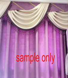 Wholesale Window Decorations Crystals - 1 Meter Acrylic Crystal bead Tassel Trim Fringe Curtain Lace Upholstery fo Curtain Decoration sewing accessories