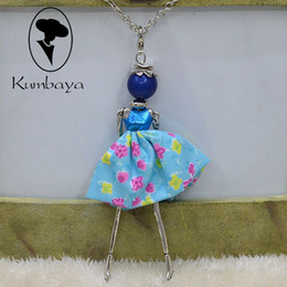Wholesale Plastic Jewelry Store - Hot Sale! Cute Girl Cloth PU Bowknot Dress Doll Necklace Women Jewelry free shipping stores Christmas Gifts Accessories Statements NS123