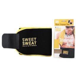 Wholesale Red Trim Slimming - Sweet Sweat Premium Waist Trimmer Men Women Belt Slimmer Exercise Ab Waist Wrap with color retail box
