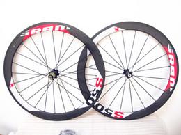 Wholesale Carbon Road Wheels Sram - Good qulaity 700c 50mm Sram S50 carbon road bike wheels with 20.5mm width 6 kinds of hubs free shipping