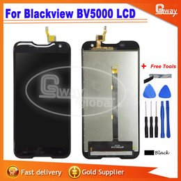 Wholesale Resistive Lcd Touch - Wholesale- For Blackview BV 5000 LCD Display+Touch Screen 100% Tested Screen Digitizer Assembly Replacement For Blackview BV5000