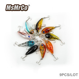 Wholesale Trolling Soft Plastic Lures - MSMRCO 9 pcs 10cm10g 3D eyes underwater trolling fishing lures artificiales wobbler hard plastic baits Lifelike fish crank bait