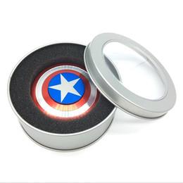 Wholesale Metal Help - 2017 Nova EDC Tri-Spinner Spinner Spinner Metal Fidget Fidget The Anti-Anxiety 360 Spinner Fidget Toy Captain America Shield Helps Focusing