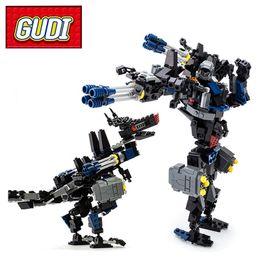 Wholesale Transformation Truck - GUDI 8712 Transformation Series Robot Car Big Truck 377pcs Building Blocks Kids DIY Bricks Model Toys for Children