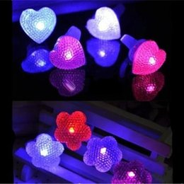 Novelty LED Ring Lights LED Opening Rings Party Bar Finger Night Light Boys and Girls Children's Gifts Kids Toys Party Wedding Festival Gift Deals
