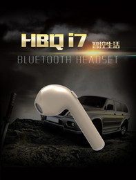 Wholesale Iphone Headphones For Sale - 1Pcs Sale HBQ I7 Mini Bluetooth Earbud Single Wireless Invisible Headphones Headset With Mic Stereo bluetooth Earphone for Iphone Android