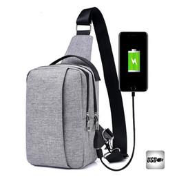 Wholesale Message Back - Unisex Chest Bag High Capacity Leisure Canvas Crossbody Bags Sling Single Shoulder Message Solid Travel Back Pack bolsas de tela