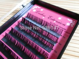 Wholesale Eyelash Extension Single - Wholesale- Eyelashes extension 0.05 0.07 0.1 0.15 0.2 0.25 (8-16mm) bright single grafting eyelash eye makeup False individual Eyelashes