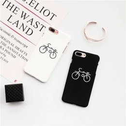 Wholesale Iphone5 Hard Case Back Cover - bicycle dull polish hard case for iPhone7 plus,protective back cover for iPhone6 6S plus,simple style case for iPhone5 5S SE