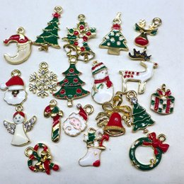 Wholesale Metal Christmas Tree Ornaments - Metal alloy Mix Christmas Sets charm For Holiday Decoration,christmas decoration supplies ,christmas decoration,Free Shipping!