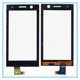 Wholesale Ericsson Xperia U - High Quality Black Front Touch Screen Panel Glass Lens with Digitizer Replacement For Sony Ericsson Xperia U ST25 ST25i Free Shipping