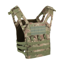 Wholesale Black Tactical Vests - Adult Hunting Jacket Camping JPC Tactical Vest Safety Life Vest For CS Outdoor Airsoft Sports Paintball Gear Black Camouflage