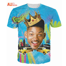 Wholesale Long Basic Top - Alisister Summer Style So Fresh Will Smith T-Shirt Sexy Tee Fresh Prince Of Bel Air 3d T Shirt Basic Tshirt For Women Men Tops 17310