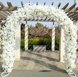 Wholesale Quality Sites - High Quality Wedding Site Layout Mall opening Arches Sets Event Decoration Supplies (Arch shelf+Cherry blossoms) Free Shipping LLFA