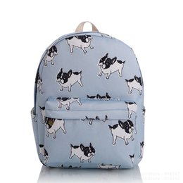 Wholesale Phone Charms Characters - 2016 Girls Women Cute Dog Canvas Backpacks School Backpack Rucksack Travel Bag Bookbag Character Pattern Charm Mochila New